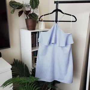 Lumiere Blue and White Seersucker Dress